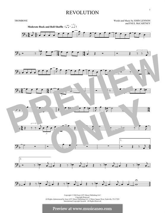 Revolution (The Beatles): For trombone by John Lennon, Paul McCartney