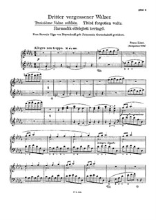 Vergessener Walzer, S.215: Walzer Nr.3 by Franz Liszt