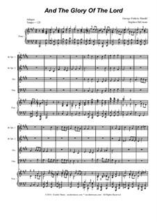 Nr.4 Denn die Herrlichkeit Gottes des Herrn: Für Blechblasquartett by Georg Friedrich Händel