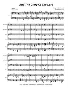 Nr.4 Denn die Herrlichkeit Gottes des Herrn: For brass quartet (with accompaniment track) by Georg Friedrich Händel