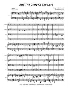 Nr.4 Denn die Herrlichkeit Gottes des Herrn: For string quartet (with accompaniment track) by Georg Friedrich Händel