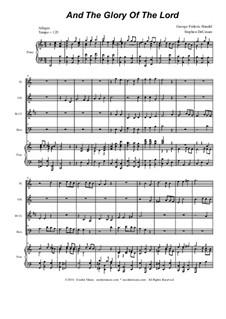 Nr.4 Denn die Herrlichkeit Gottes des Herrn: For woodwind quartet by Georg Friedrich Händel