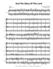 Nr.4 Denn die Herrlichkeit Gottes des Herrn: For woodwind quartet (with accompaniment track) by Georg Friedrich Händel