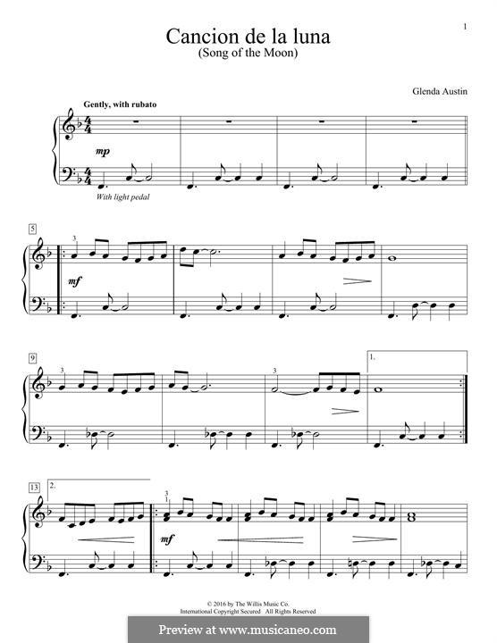 Cancion de la Luna: Für Klavier by Glenda Austin