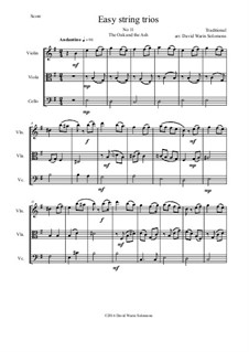 15 easy string trios: No.12 The Oak and the Ash (A North country maid) by folklore