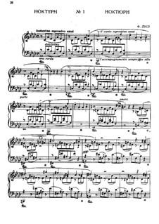 Nocturne Nr.1: Für Klavier by Franz Liszt