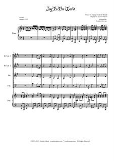 Freue dich Welt: Für Blechblasquartett by Georg Friedrich Händel
