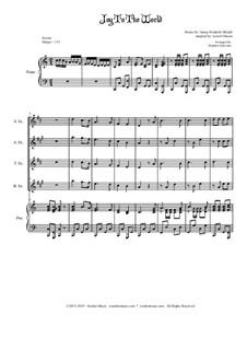 Freue dich Welt: For saxophone quartet by Georg Friedrich Händel