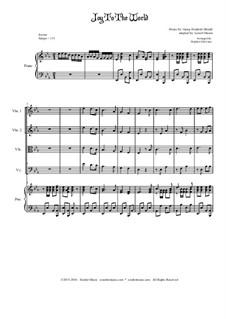 Freue dich Welt: Für Streichquartett by Georg Friedrich Händel