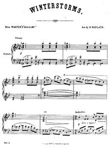 Die Walküre, WWV 86b: Winterstürme, für Klavier by Richard Wagner