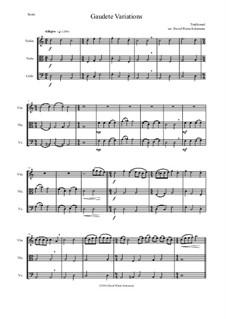 Gaudete Variations: Für Streichtrio by folklore
