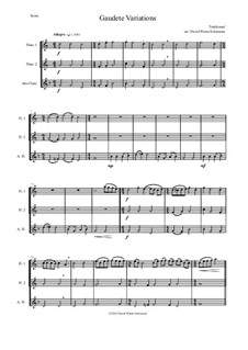 Gaudete Variations: For flute trio by folklore