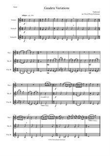Gaudete Variations: For violin trio by folklore