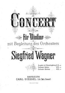 Violinkonzert in G-Dur: Version für Violine und Klavier by Siegfried Wagner