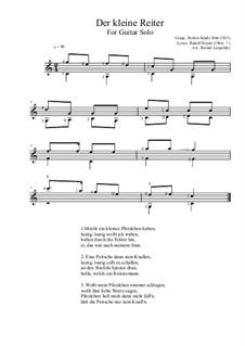 Der kleine Reiter: For guitar solo (C Major) by Robert Klaß
