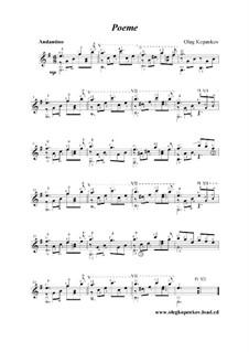 Poeme, Op.3: Poeme by Oleg Kopenkov