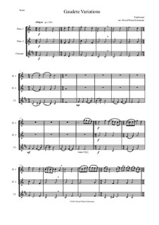 Gaudete Variations: For two flutes and clarinet by folklore