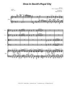Einst in der königlichen Stadt David: Für Streichquartett by Henry John Gauntlett