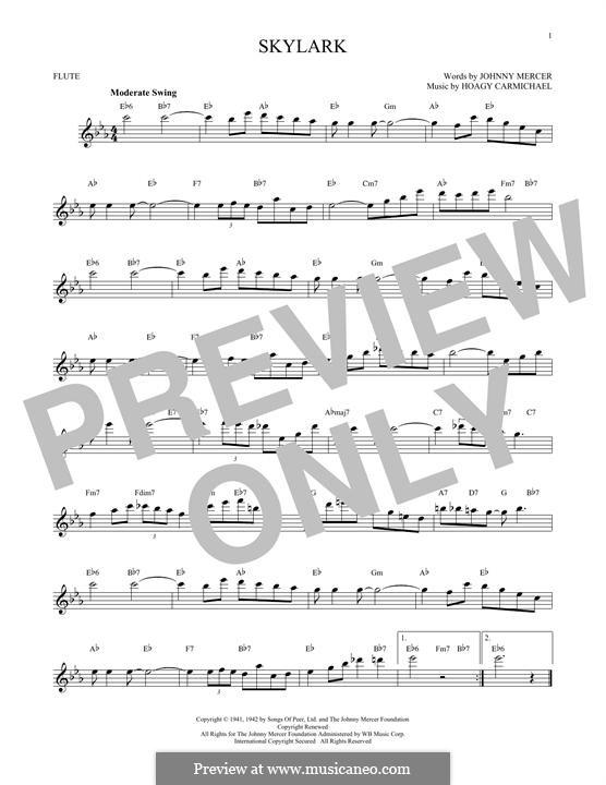 Skylark: Für Flöte by Hoagy Carmichael