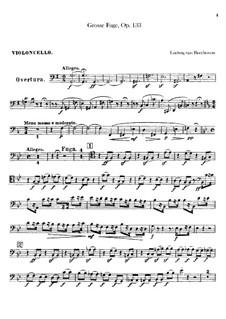 Grosse Fuge in B-Dur für Streichquartett, Op.133: Cellostimme by Ludwig van Beethoven