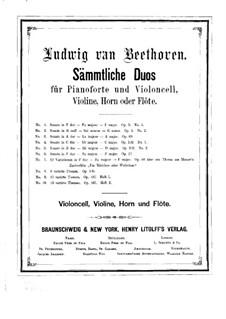 Sonate für Cello und Klavier Nr.4 in C-Dur, Op.102 No.1: Version für Violine und Klavier – Solostimme by Ludwig van Beethoven