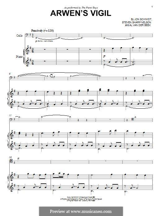 Arwen's Vigil (The Piano Guys): Für Klavier by Jon Schmidt, Al van der Beek, Steven Sharp Nelson
