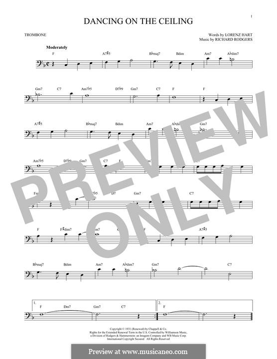 Dancing on the Ceiling: For trombone by Richard Rodgers