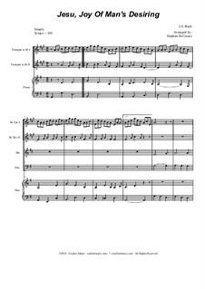 Wohl mir, dass ich Jesum habe: Für Blechblasquartett by Johann Sebastian Bach