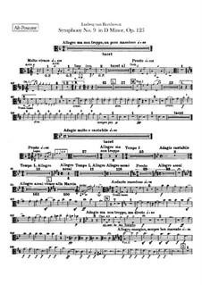 Vollständiger Sinfonie: Posaunenstimmen by Ludwig van Beethoven