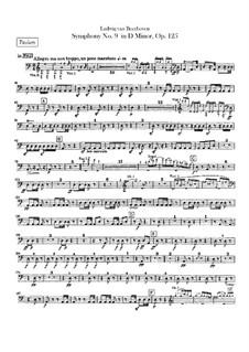 Vollständiger Sinfonie: Schlagzeugstimmen by Ludwig van Beethoven