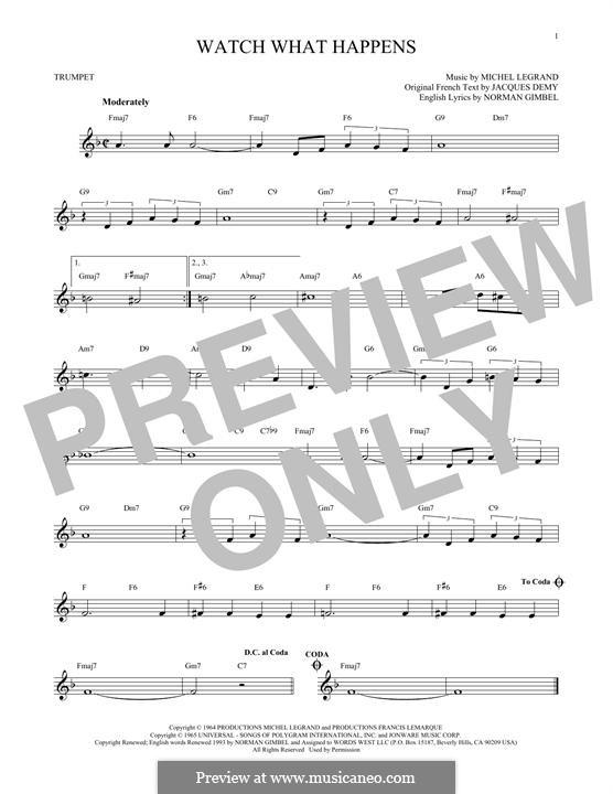 Watch What Happens: Für Trompete by Michel Legrand