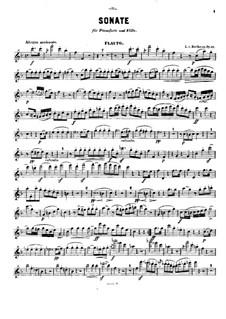 Sonate für Waldhorn und Klavier, Op.17: Version für Flöte und Klavier – Solo Stimme by Ludwig van Beethoven