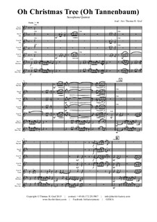 O Tannenbaum: For saxophone quintet by folklore