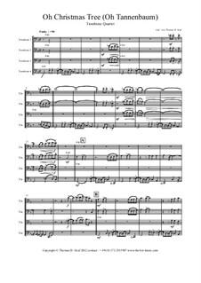 O Tannenbaum: For trombone quartet by folklore