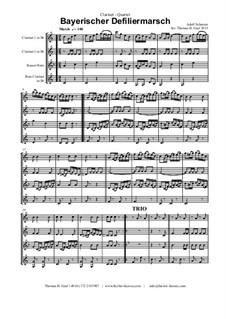 Bayerischer Defiliermarsch - German March - Oktoberfest: For clarinet quartet by Adolf Scherzer