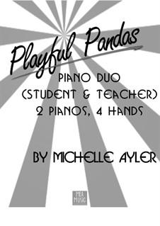 Playful Pandas (Beginning Piano Duo): Playful Pandas (Beginning Piano Duo) by MEA Music