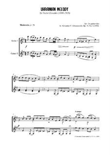 Ukrainian melody: Ukrainian melody, Ор.59 No.1 by Viktor Stepanovych Kosenko