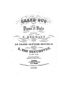 Septett für Bläser und Streicher, Op.20: Version für Viola und Klavier by Ludwig van Beethoven