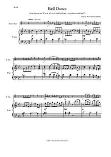 Bell Dance: Für Tenorsaxophon und Klavier by David W Solomons