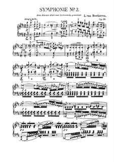 Sinfonie Nr.2, Op.36: Version für Klavier by Ludwig van Beethoven