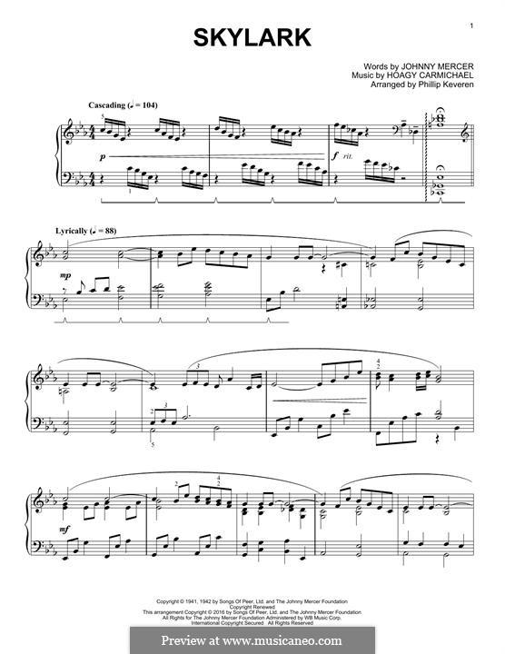 Skylark: Für Klavier by Hoagy Carmichael