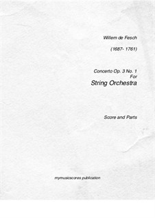 Concerto for Two Volins, Op.3 No.1: Concerto for Two Volins by Willem de Fesch