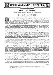 Sonate für Violine und Klavier Nr.9 'Kreutzer', Op.47: Version für Klavier von L. Godowsky by Ludwig van Beethoven