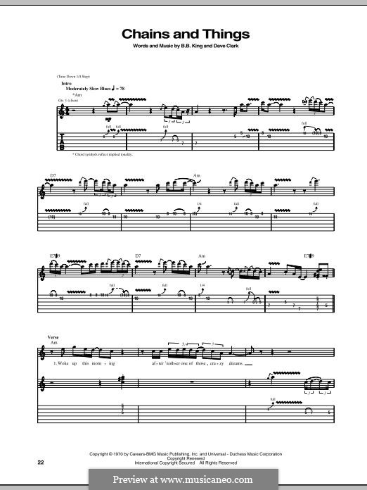 Chains and Things: Für Gitarre mit Tabulatur by Dave Clark