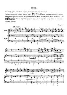 Etüde für Horn und Klavier: Etüde für Horn und Klavier by Johann Sigismund Scholze