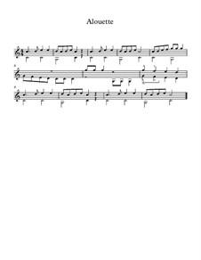 Alouette: Für Gitarre by folklore