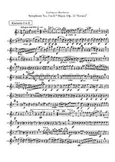 Sinfonie Nr.3 'Eroica', Op.55: Klarinettenstimmen by Ludwig van Beethoven