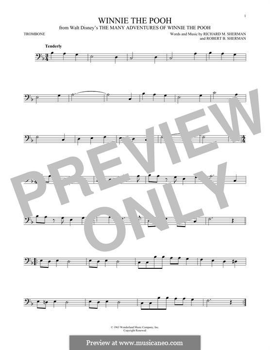 Winnie the Pooh: For trombone by Richard M. Sherman, Robert B. Sherman