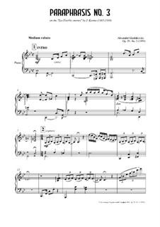 Paraphrasis No.3, Op.29: Paraphrasis No.3 by Alexander Khodakovsky