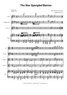 The Star Spangled Banner (National Anthem of The United States): Duet for C-instruments by John Stafford Smith